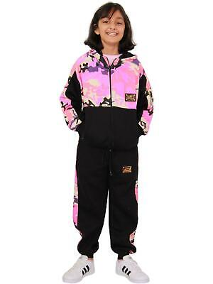 Kids Girls Tracksuit Designer A2Z Camouflage Hooded Top Bottom Jogging Suit 5-13
