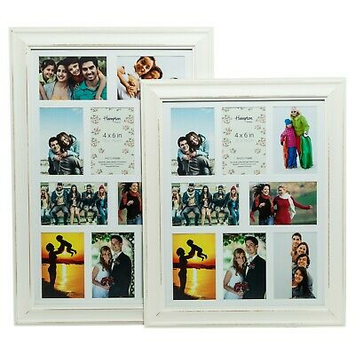 Erica Multi Aperture Photo Frames Blue Sage Green White in 4 Or 8 & 10 Apertures