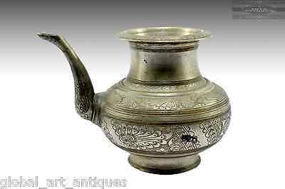 Antique Indian  Hand Crafted Beautiful Work Big Brass Water Pot/Vessel .G7-306
