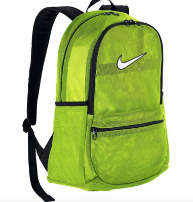 fdc927a492 Nike Brasilia Mesh Backpack Volt Black Bottle Pocket BA5388-702 1648 Cubic  Inch