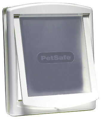 Pet Door Dog Flap Large 2 Way Lockable Entrance White Gate 456 x 386 mm