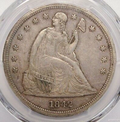 1842 Seated Dollar PCGS AU-50 PCGS