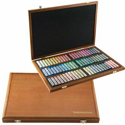 Mungyo Gallery Artists' Soft Pastel Squares Wood Box Set of 72 - Assorted Colors