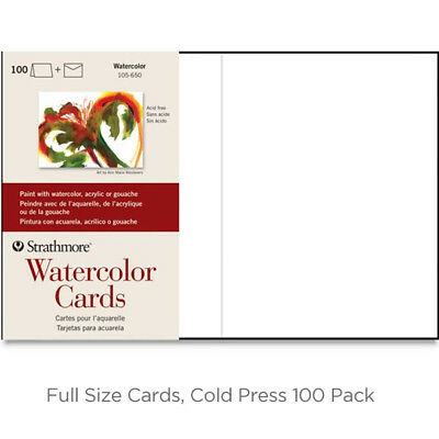 """Strathmore Watercolor Greeting Cards 100 Pack 5x6.875"""""""