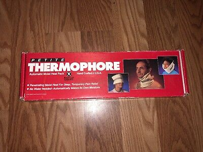 "Thermophore Model 077 Deep Heat Therapy Neck & Head Heating Pad Petite 4""x17"""
