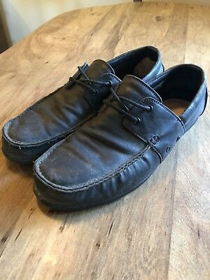 7e15436be7 GRAVIS DYLAN RIEDER Black Wax Lace Boat Shoes 11.5 -  31.00