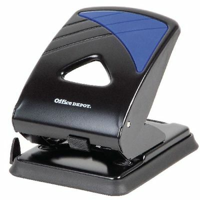 Office Depot Metal 2 Hole Punch - Up to 40 Sheet Capacity New Free Delivery
