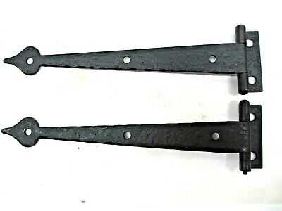 "2  McKINNEY Strap Hinges Forged Iron Spade Tips NOS DB12518 HT 6.5"" Lipped Door"