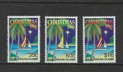 COCOS (KEELING) ISLANDS - mint 1989 Christmas, No.3, set of 3, MNH MUH