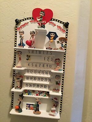 BETTY-BOOP-1-year-calendar-Danbury Mint Figure-Rare-Excellent Condition