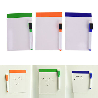 Flexible Fridge Magnetic Whiteboard Memo Reminder Board Pen Magnet With Pen  LR