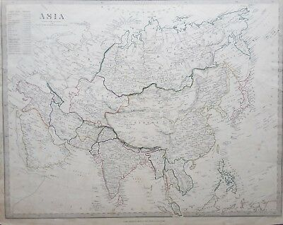 Antique map of Asia. 19th century