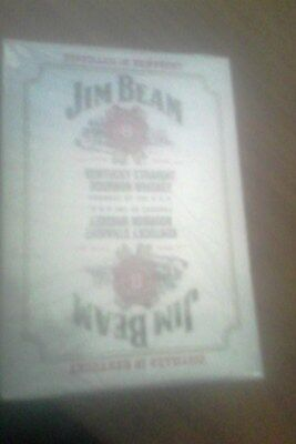 jim beam white label playing cards -