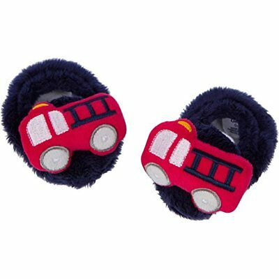 Gerber Baby Boys Velboa Booties NEW Size 0-6 Months Firetrucks Adorable