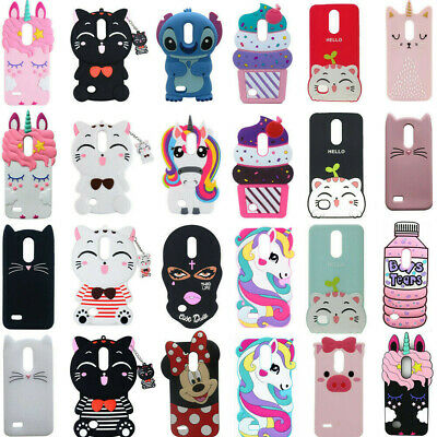 Cute 3D Cartoon Soft Silicone Phone Case Cover Shell For LG Aristo2 Phoenix G6/7