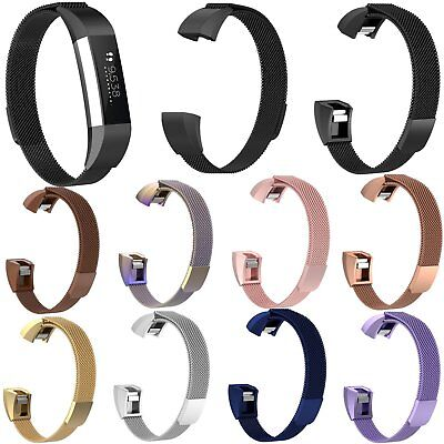 Metal Milanese Magnetic Wristband Loop Strap Bracelet for Fitbit Ace Kid Tracker