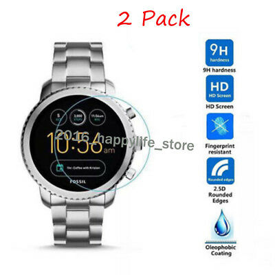 2-PACKFor Fossil Q Wander Watch Guard Cover Tempered Glass Film Screen Protector