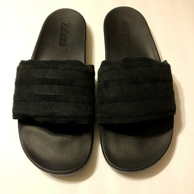 Mens Adidas Adilette Slides SC Plus Nature SuperCloud Black Suede 3 Stripe 622b6d1ff