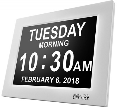 New Version Extra Large Display Digital Clock for Senior Memory Loss Alzheimer