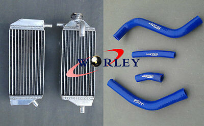 Aluminum Radiator and Blue Hose For Yamaha YZ450F YZF450 2014-2016 14 15 16 2015