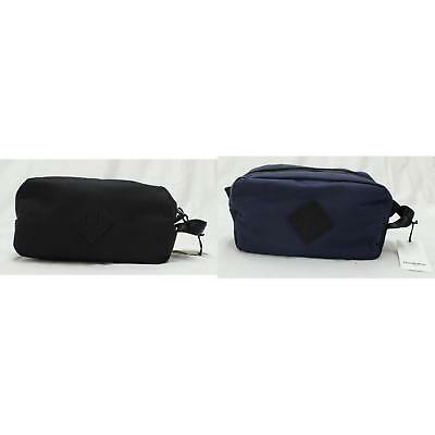 4b2e2346865 MENS TOILETRY DOPP Kit Travel Bag Leather Canvas Hygiene Zippered ...