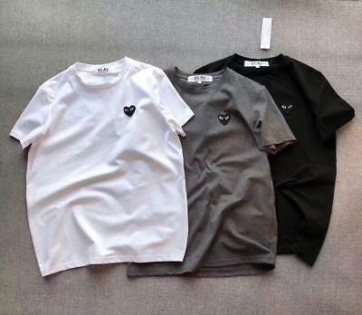 a525e058 T-shirts Comme Des Garcons CDG Play Little Black Heart Icon Short Sleeve  Men Tee
