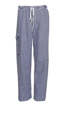Highliving Checked Chefs Work Trousers Catering Trousers  Soft Egyptian Cotton