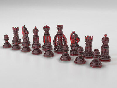 classic chess set- 4D STL Model Relief for CNC Router Aspire Artcam ,3d printer