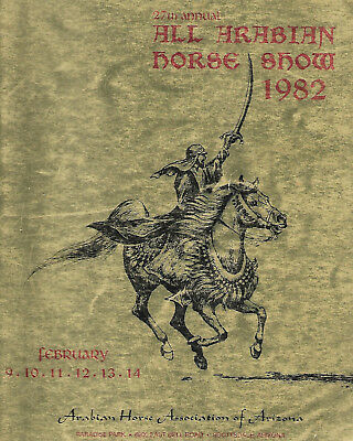1982 27th Annual Scottsdale All Arabian Horse Show Program