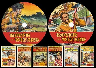 Rover & Wizard UK Comic On Two DVD Rom's