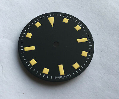 Snowflake Snow Flake Watch Dial for Seiko 7S26 NH35 Vintage Yellow 28.5mm