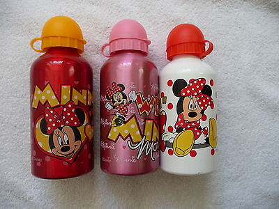 Kinder Trinkflasche Minnie Mouse 500ml Alu Aluminium NEU