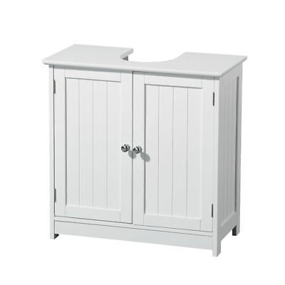 Bathroom Under Sink Basin Cabinet Unit Cupboard Storage Furniture White