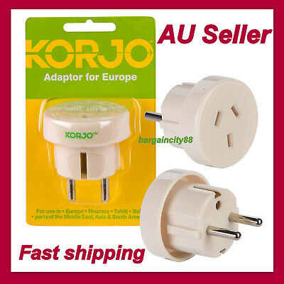 Korjo Travel Adaptor For Europe From Australia New Zealand