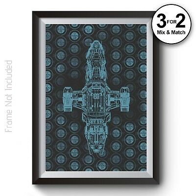 Serenity Movie Poster - Firefly Wall Art Print in 100% Cotton Rag Giclee Paper