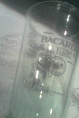 bacardi rum embossed tall sloping sided green glass 150 years 4/4