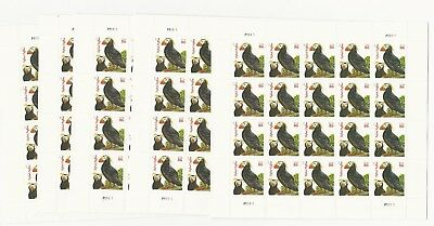 100 86¢ Tufted Puffins Stamps, 5 Panes of 20 Mint #4737 under face value