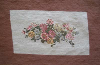 """New, Never been framed completed wool needlepoint tapestry flowers 24.5""""x15.5"""""""