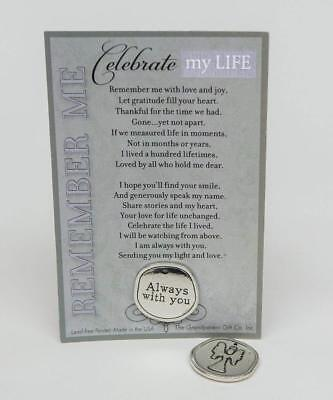 The Grandparent Gift Co. Remembrance/Memorial/Inspirational Keepsake Coin with 2