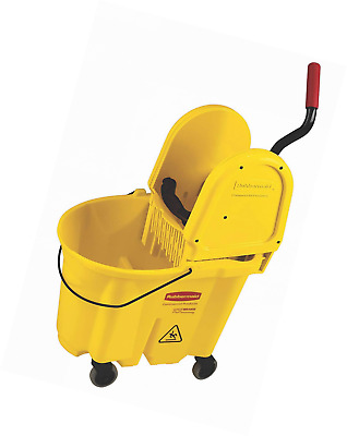 Rubbermaid Commercial WaveBrake Mop Bucket with Down Press Wringer Institutional