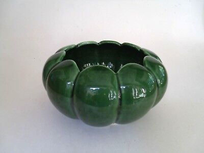 Camark USA 620 Art Pottery Lotus Flower Bowl  Planter Green Vintage