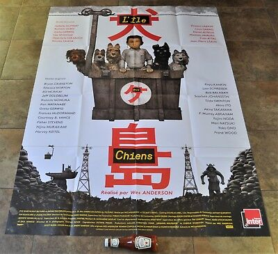 ISLE OF DOGS Movie Poster - MASSIVE - Original NEW - Wes Anderson - Bill Murray