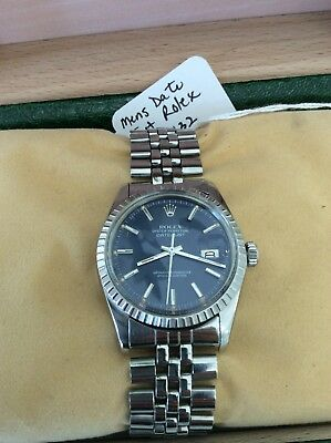 5de4371b334be STAINLESS STEEL ROLEX Datejust Model 1601 Vintage Watch With Royal ...