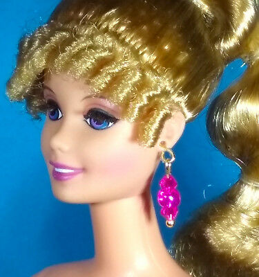 Barbie Dreamz ROSE PINK /& RASPBERRY Crystal Bead Choker SET Doll Jewelry