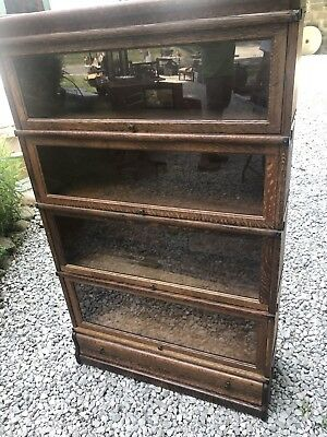 Beautiful Globe Wernicke Oak 299 Antique 4 Stack Bookcase