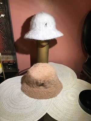 548305ebb91 Authentic KANGOL Furgora Real Fur Casual Bucket Cap Hat KAO1474 Sizes L AND  XL