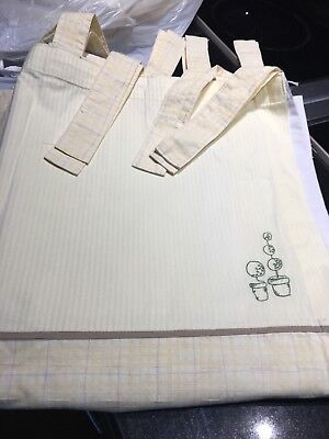 Mamas and Papas Zeddy and Parsnip Nursery Lined Tab Top Curtains