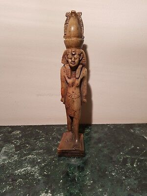 Rare Antique Ancient Egyptian Statue King Ramses W Crown United Egypt1279–1213BC