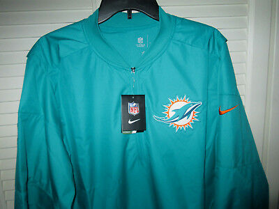b9ec7908 NWT NIKE MIAMI Dolphins Storm Fit On Field Pullover 1/2 Zip Jacket 3Xl