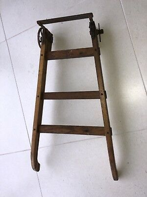 Sack Truck Vintage Old Antique Missing A Wheel